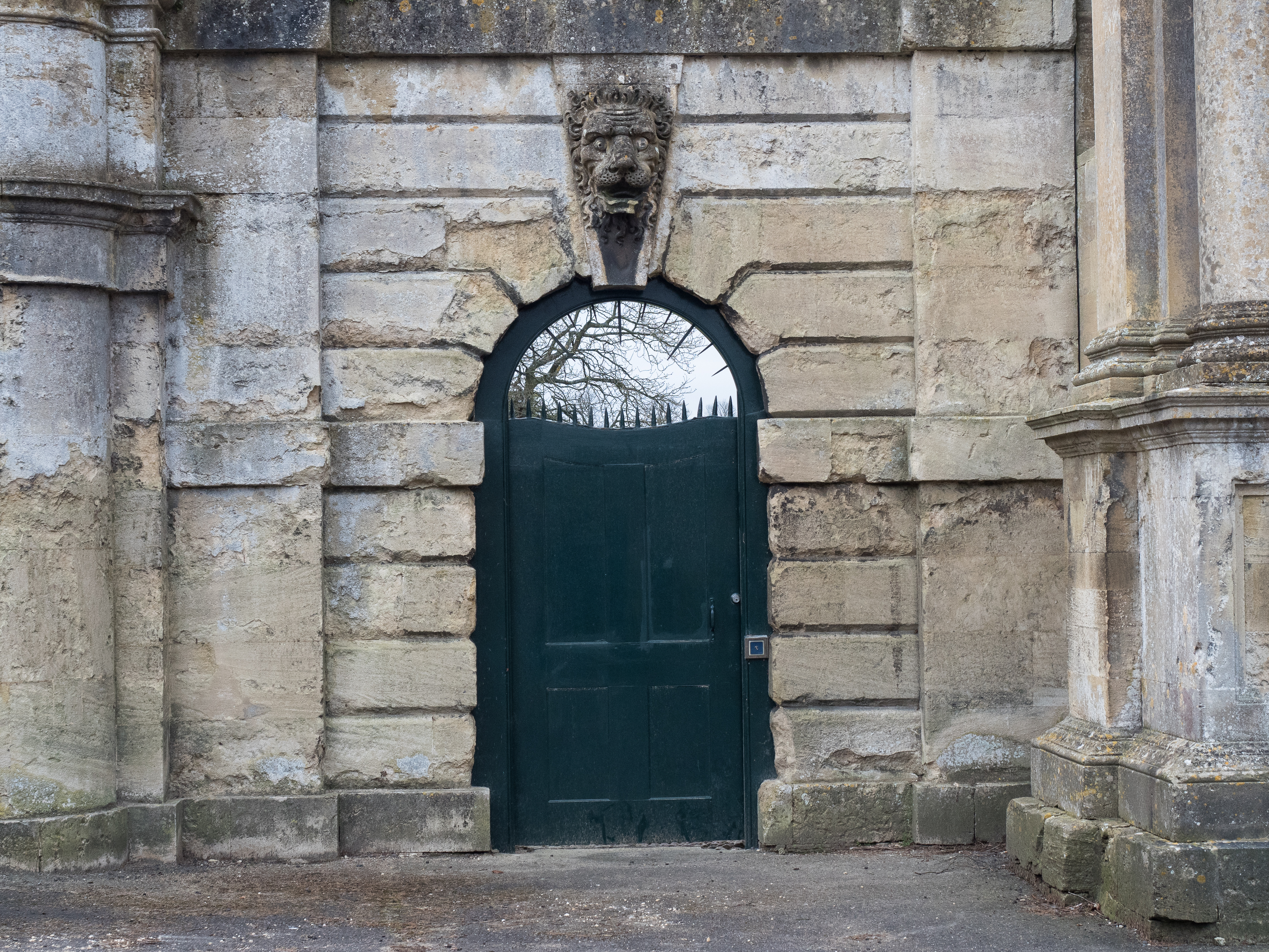 Lion stone entrance