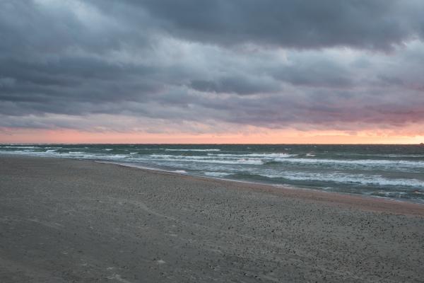 Himmel, hav och sand